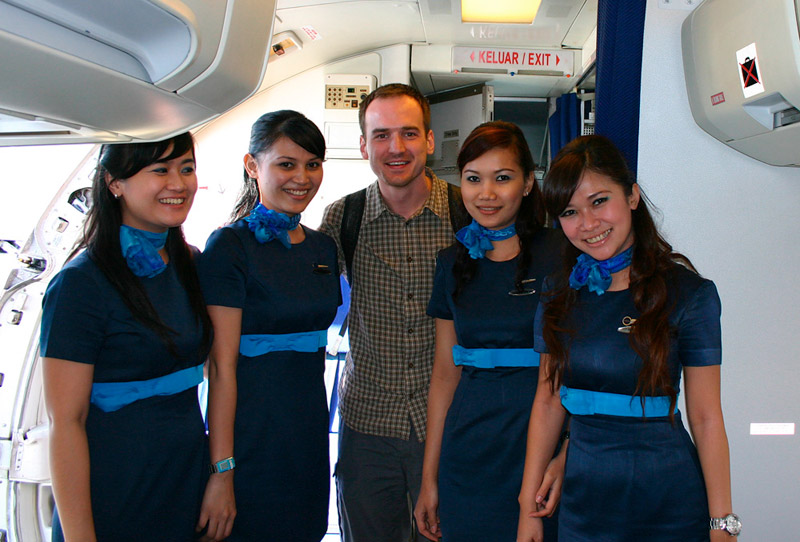 Express Air hostesses and friend